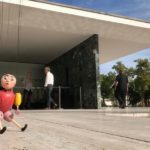 'The Little Hunchback', Bauhaus Puppets with Christian Fucs at the Mies Van der Rohe pavilion, Barcelona